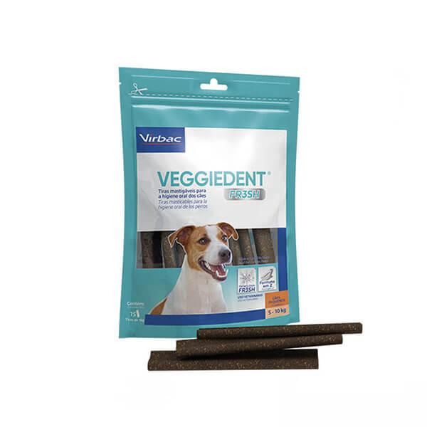 Veggiedent Fresh 15 Tiras Mastigavéis para Cães Pequenos acima de 5 a 10kg Virbac