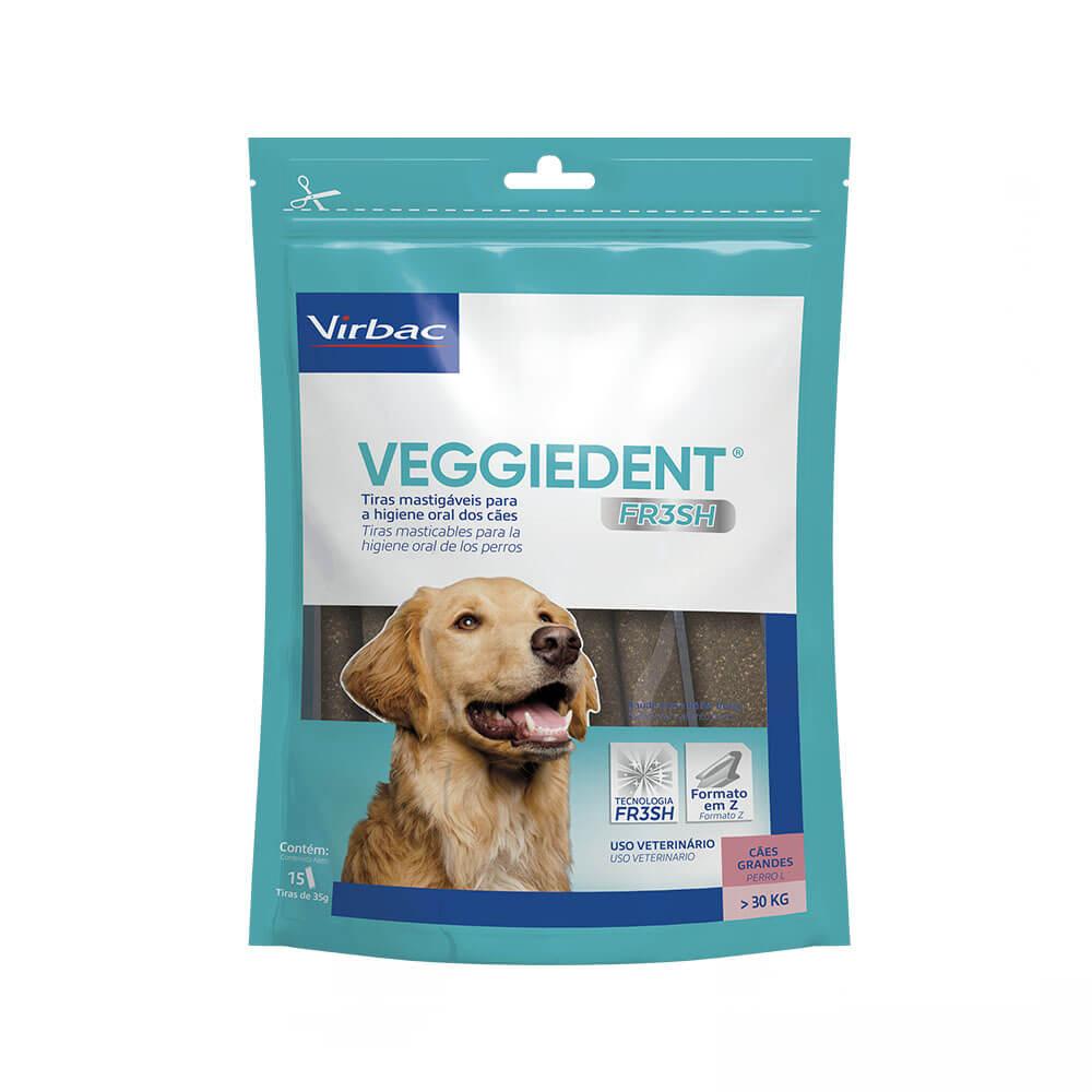 Veggiedent Fresh Tiras Mastigavéis para Cães Grandes acima de 30kg Virbac