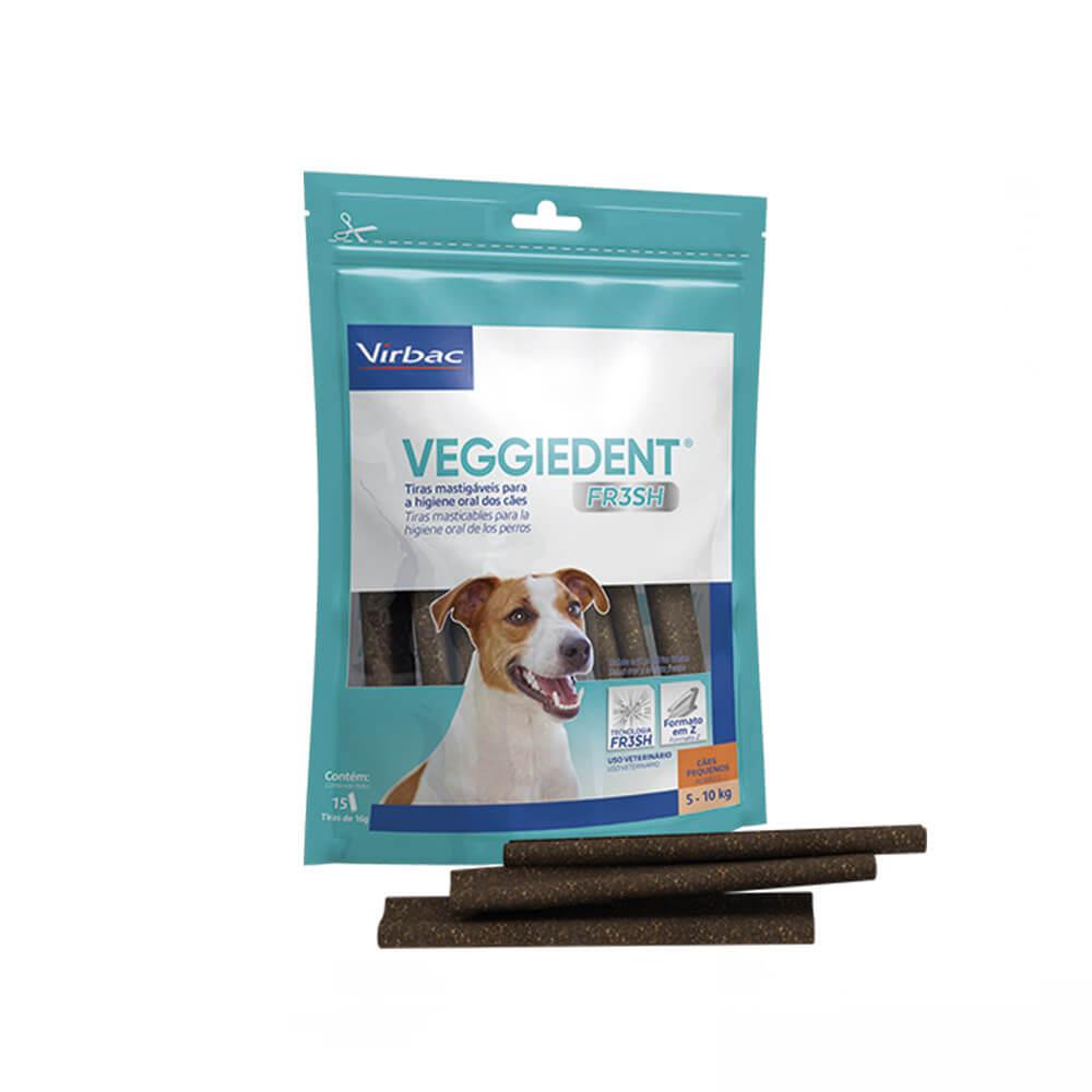 Veggiedent Fresh Tiras Mastigavéis para Cães Pequenos acima de 5 a 10kg Virbac