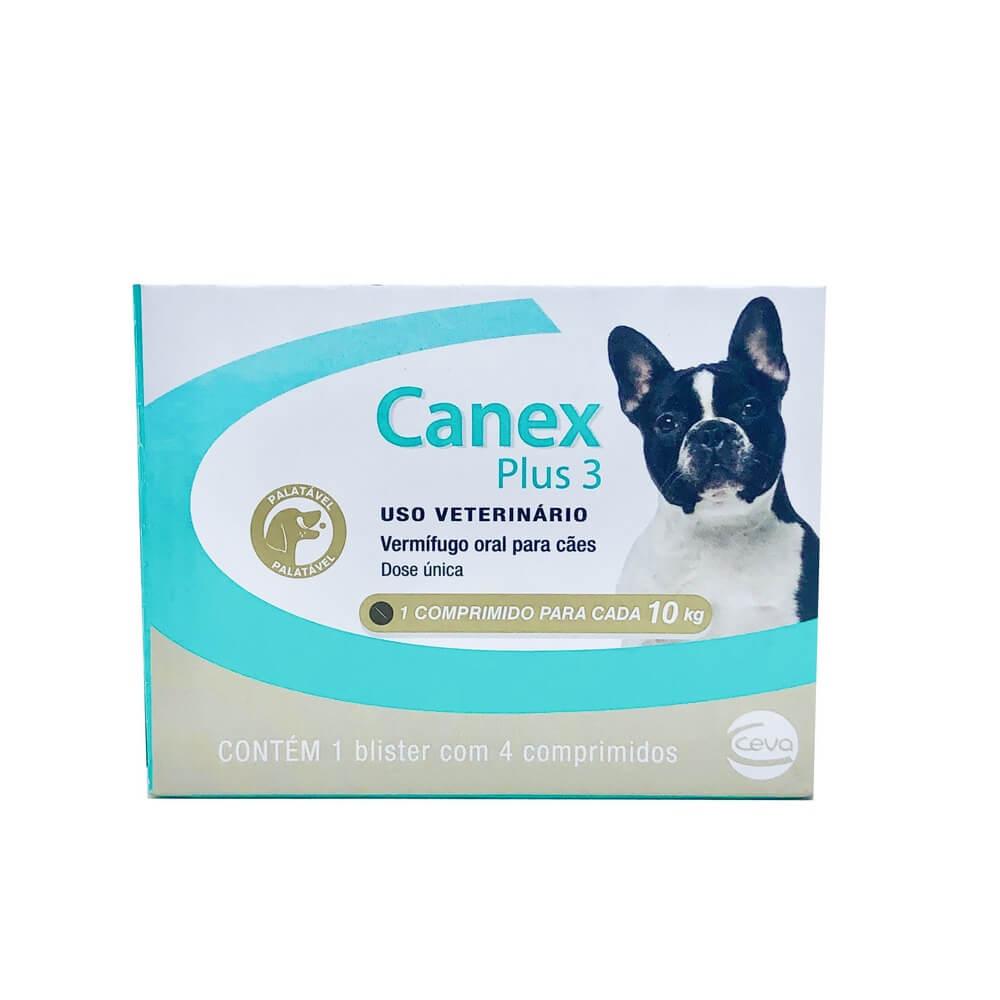 Vermífugo Canex Plus 3 Ceva 4 Comprimidos