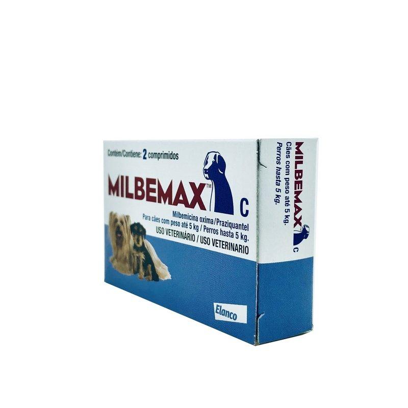 Vermífugo Elanco Milbemax Cães 5 kg - 2 Comprimidos