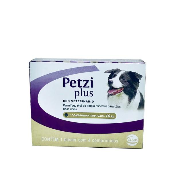 Vermífugo Petzi Plus 700 mg Ceva 4 Comprimidos