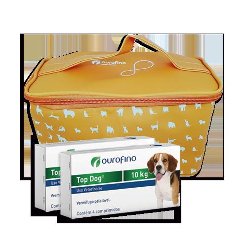 Vermífugo Top Dog Cães 10kg Combo 2 Caixas