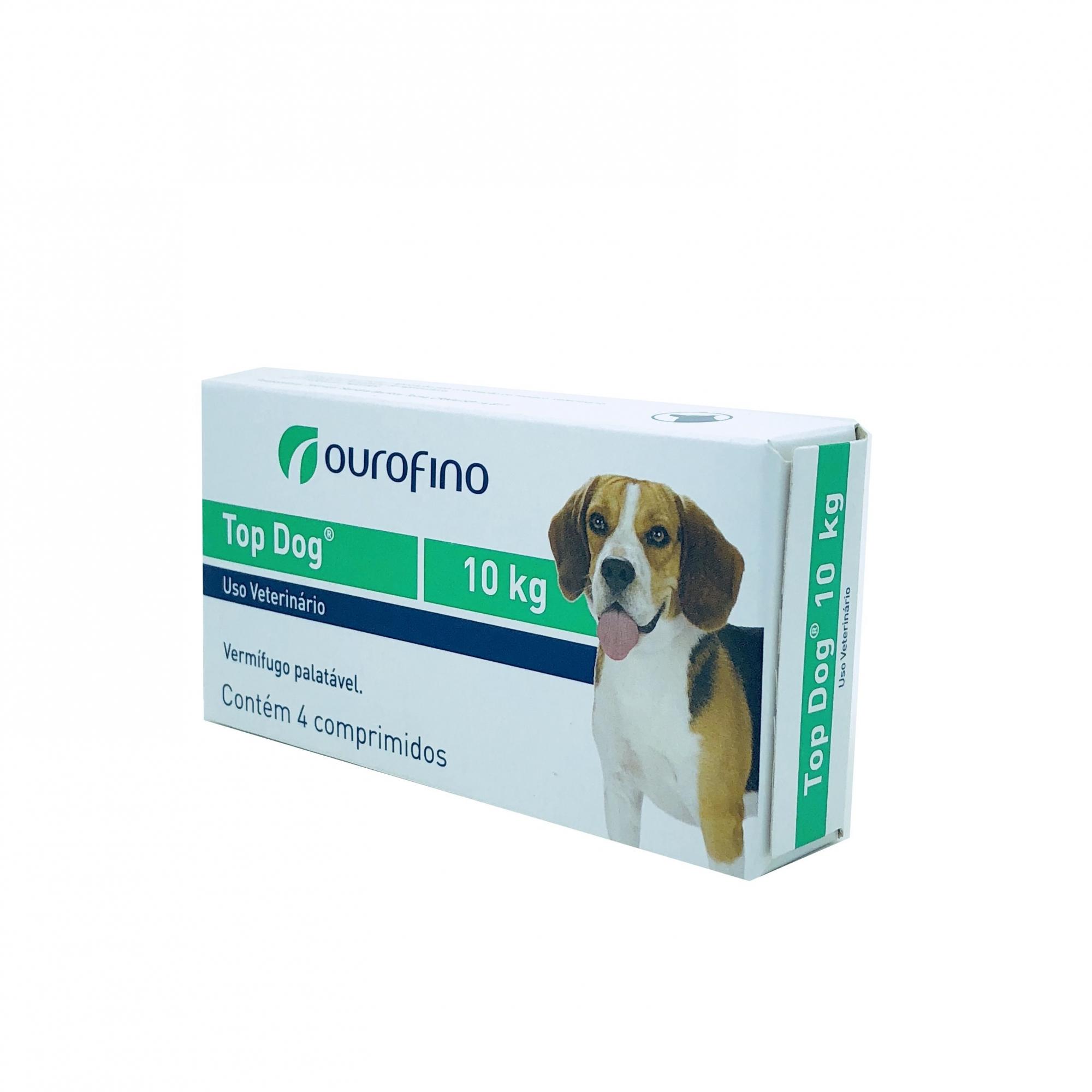 Vermífugo Top Dog Ourofino 10 kg