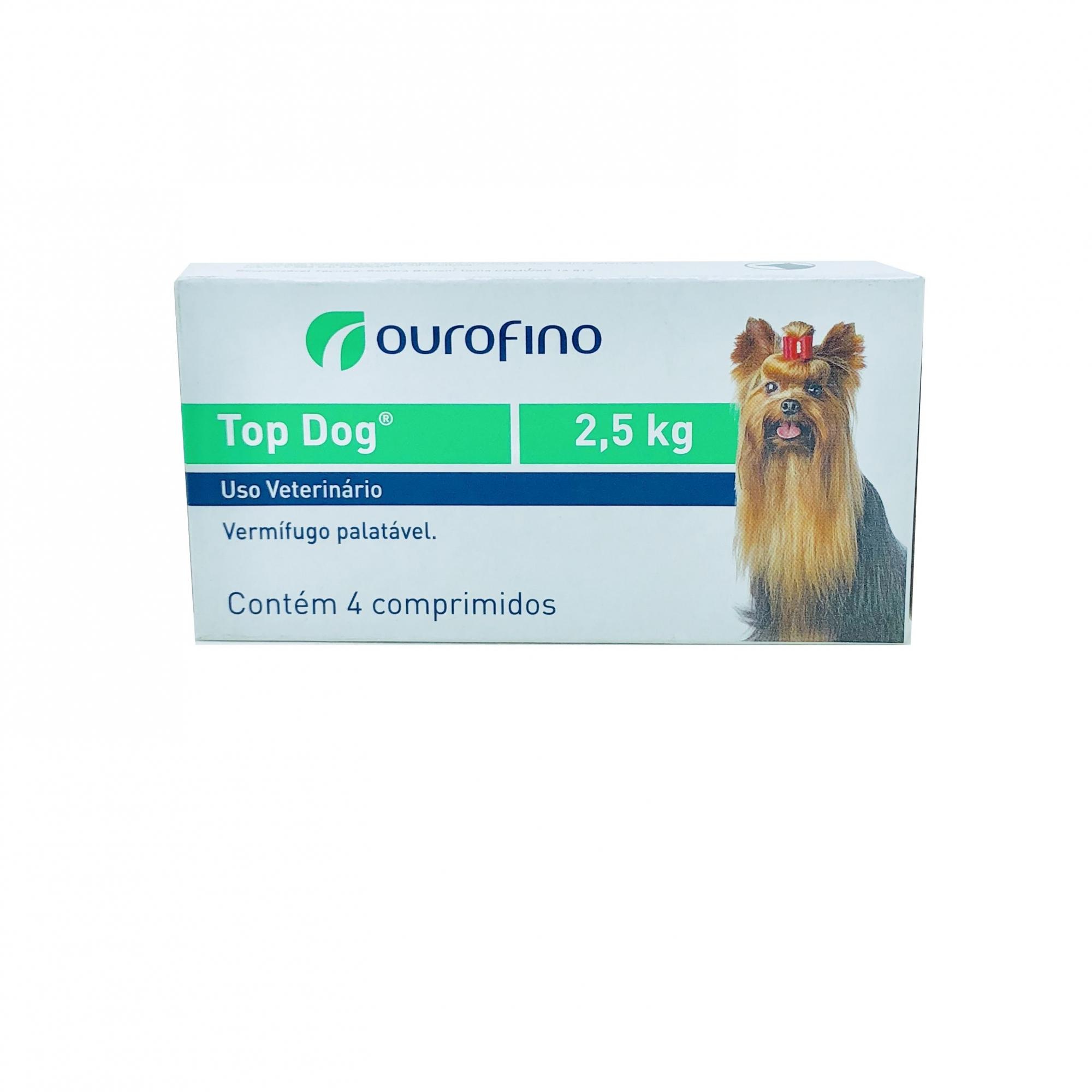 Vermífugo Top Dog Ourofino 2,5 kg
