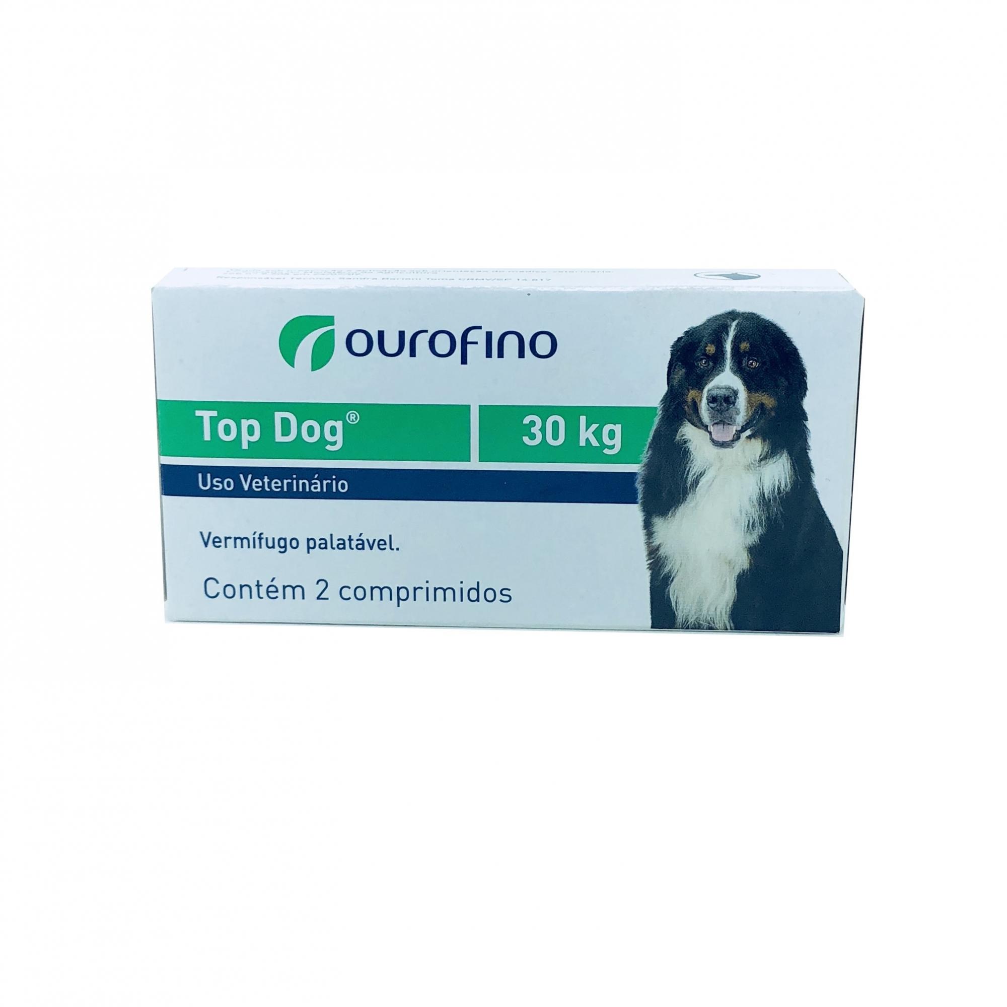 Vermífugo Top Dog Ourofino 30 kg