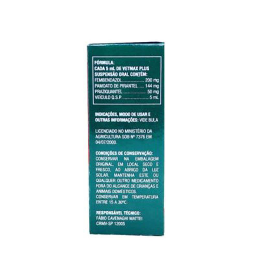 Vermífugo Vetmax Plus Suspensão Oral 30 ml
