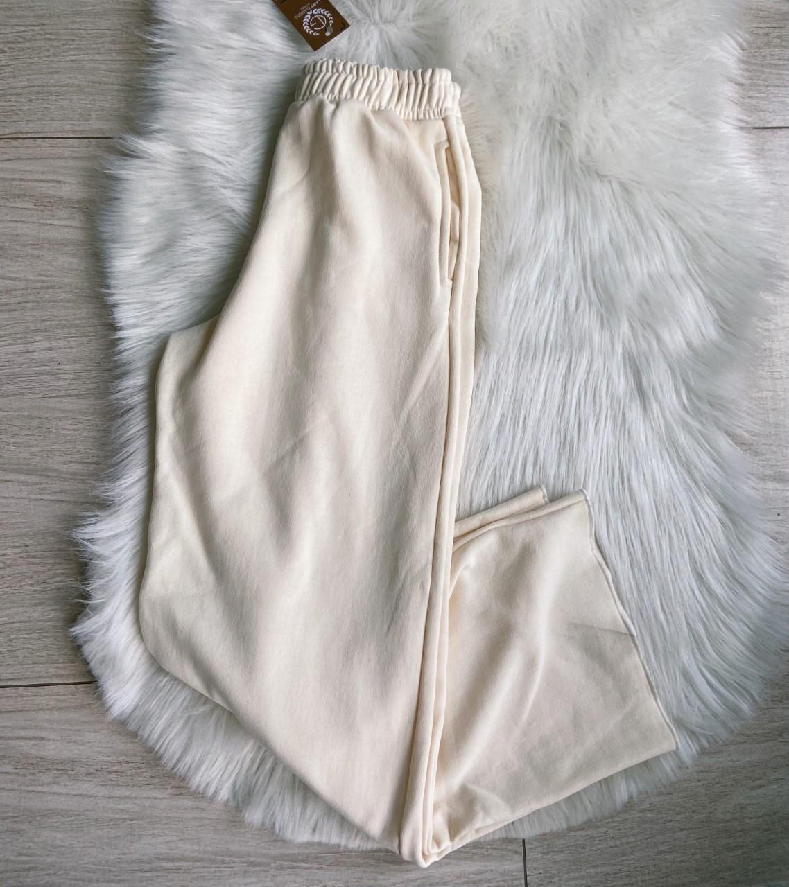 Calça de Moletom Wide Leg Branca