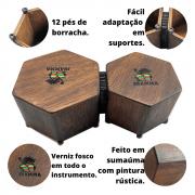 Bongô Cajon Hexagonal Rustic Séries Jhamma Percussões