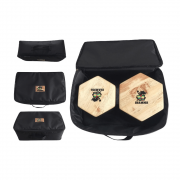 Bongô Hexagonal + Bag de Transporte Jhamma Percussões Black