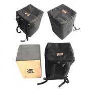 Cajón Reto Acústico + Bag de Transporte Jhamma Percussões Black