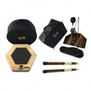 Pedal Para Cajon + Caixa Cajon + Baquetas + Bags Jhamma Percussões