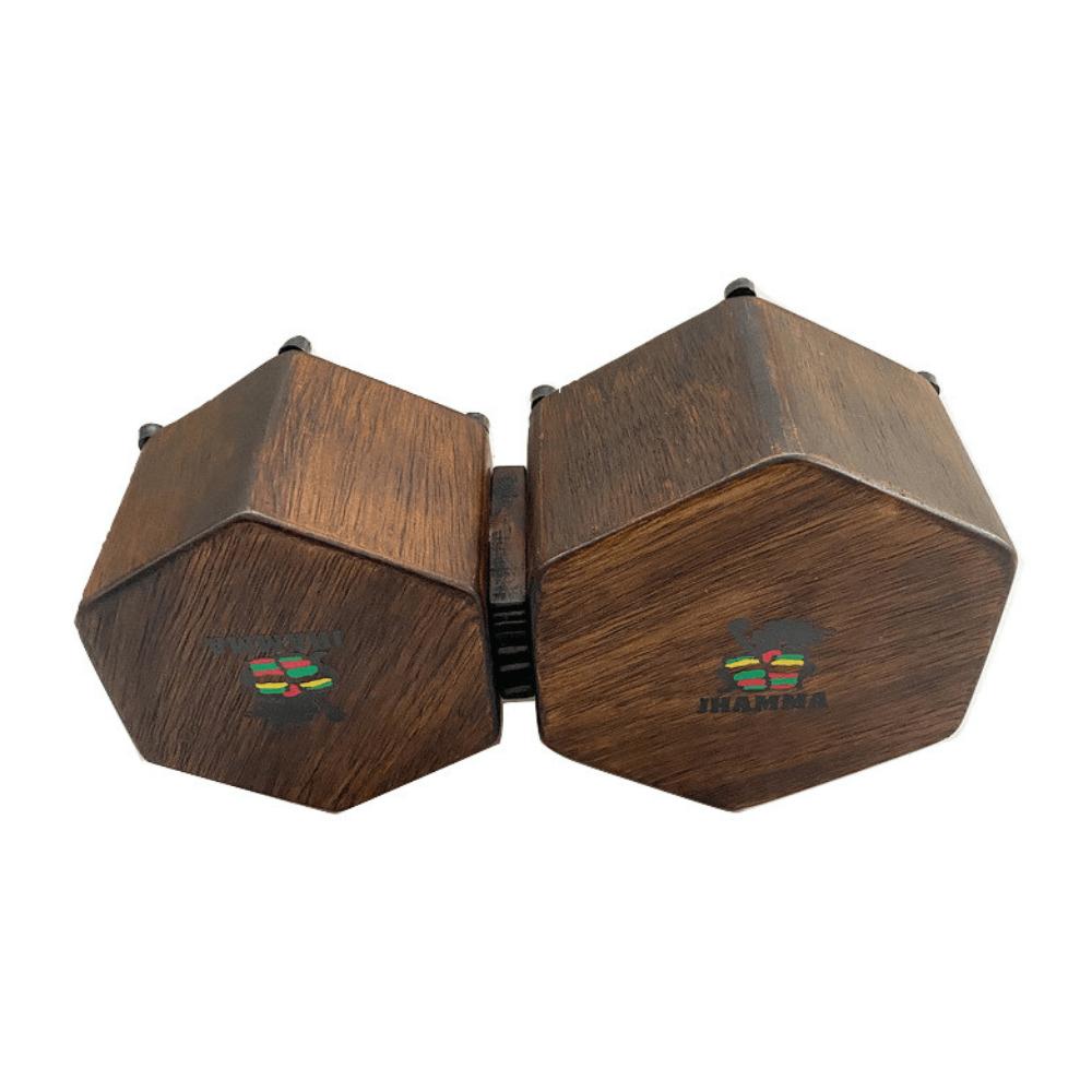 Bongô Hexagonal + Bag de Transporte Jhamma Percussões Rustic