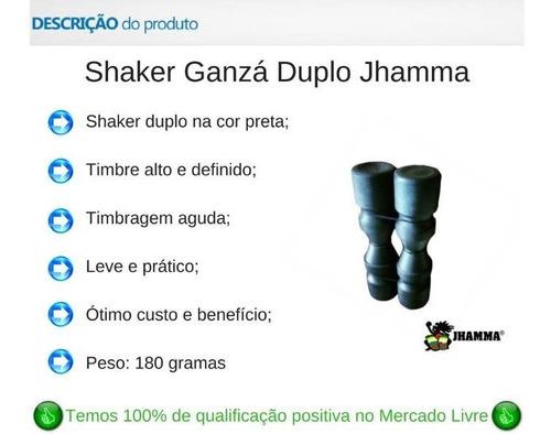 Ganzá Shaker Jhamma Duplo Som Agudo Percussão Chocalho