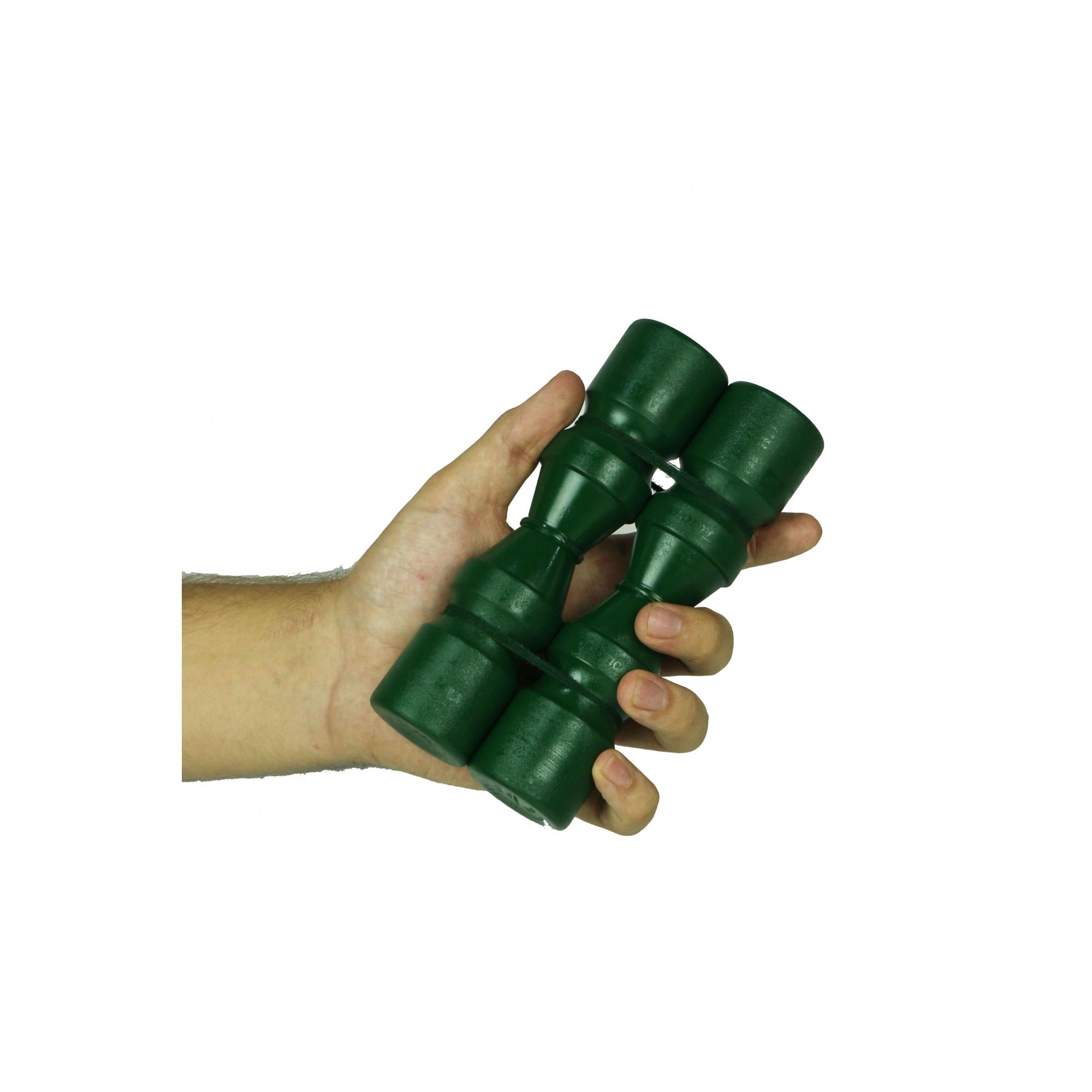 Ganzá Shaker Jhamma Duplo Som Médio Verde Percussão Chocalho