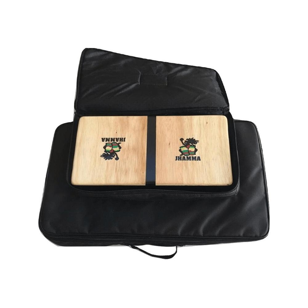 Kit Bongô Compacto + Conga Compacta + Bag Dupla Jhamma Percussões Black