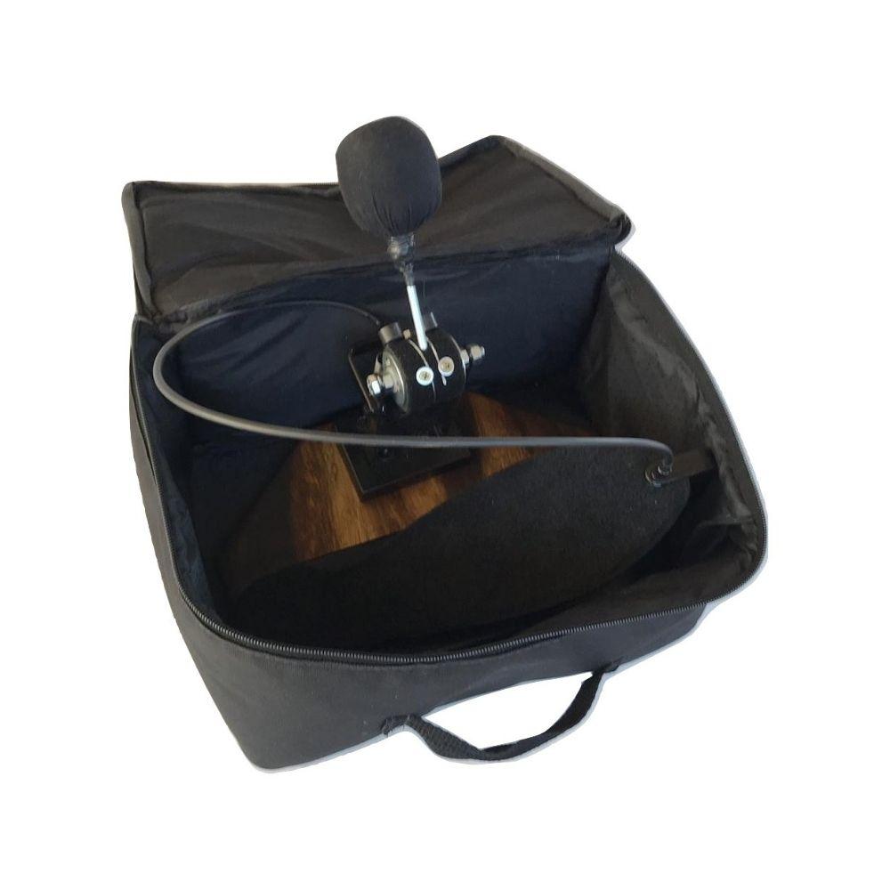 Kit Percuteria Cajón + Pedal + Caixa + Baquetas + Bags de Transporte Jhamma Percussões