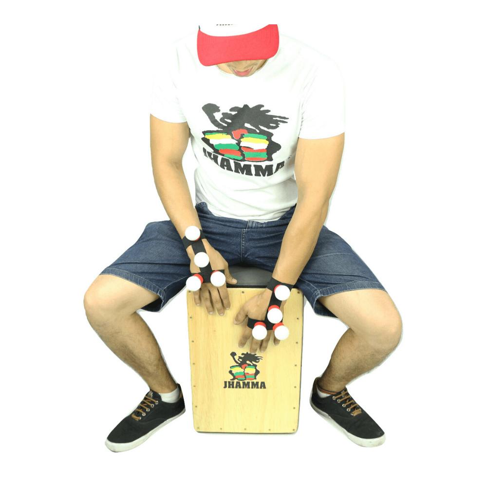 Luva Shaker Para Cajón Acessório Jhamma Percussões ( O Par )