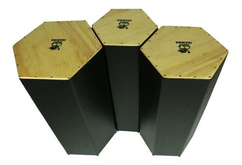 Trio De Congas Jhamma Cajongas Hexagonais Black As Melhores