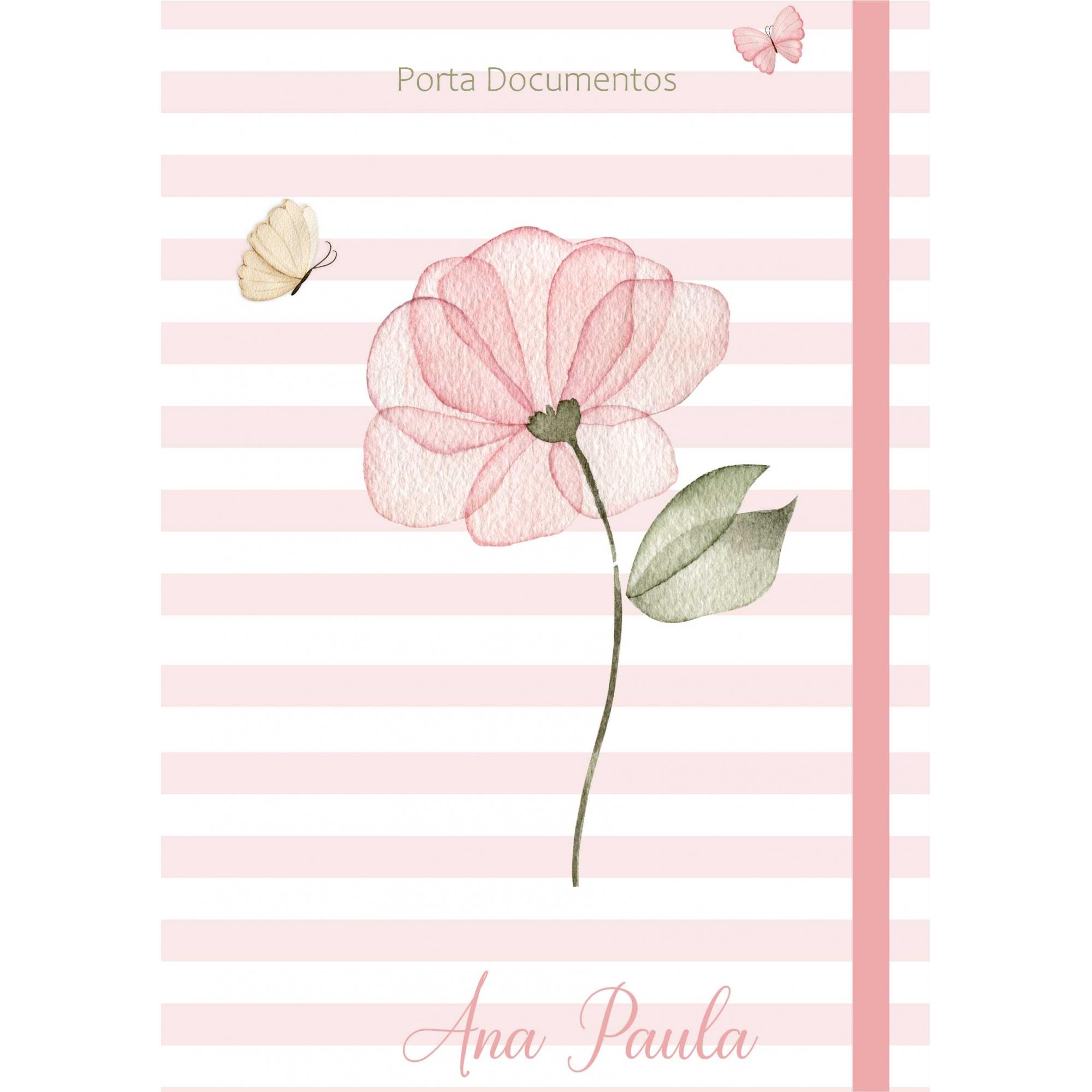 Porta Documentos Amor em Flor