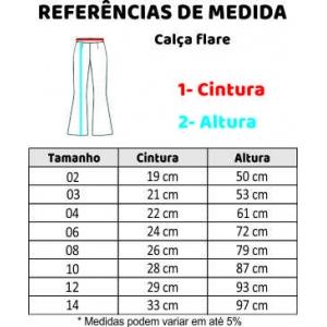 CALÇA FLARE 10-12-14