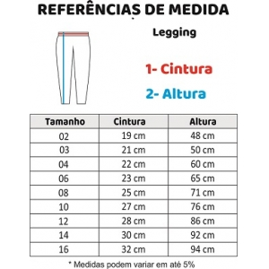 CALÇA LEGGING 10-16