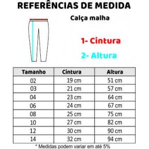 CALÇA MALHA C/ BOLSO 10-14