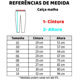 CALÇA MALHA C/ BOLSO 1-3
