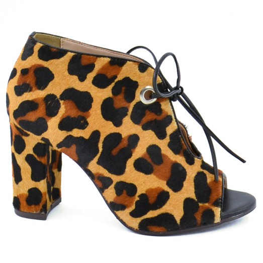 Ankle Boot Lace Up Amanda Ayello - Animal Print