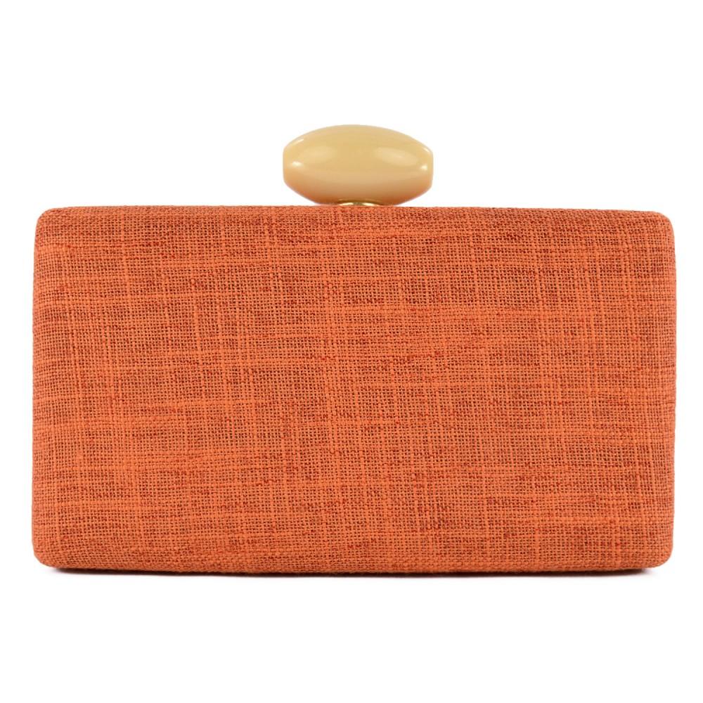 Bolsa Clutch Retangular Colors Madame Marie - Laranja
