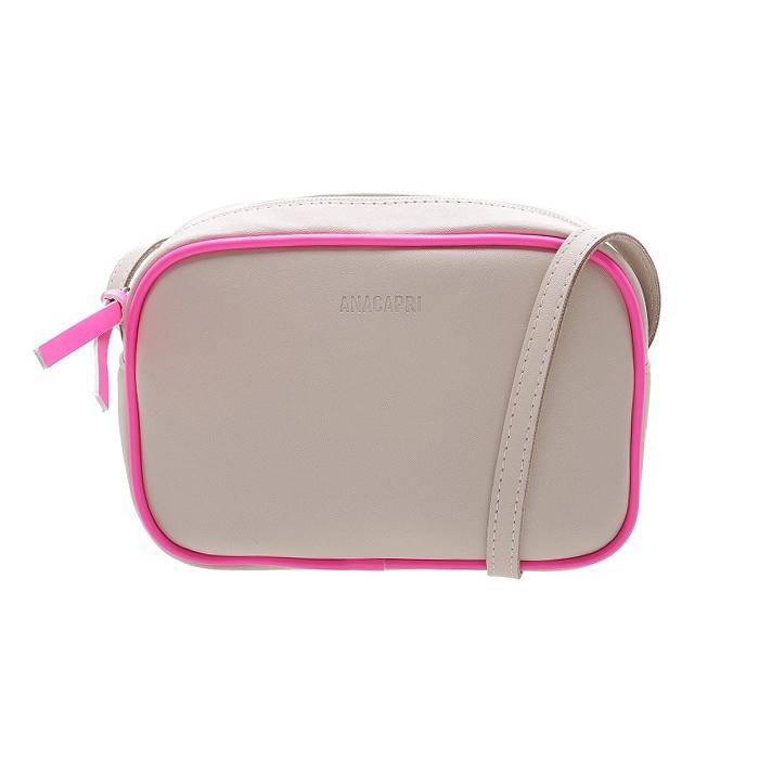 Bolsa Crossbody Anacapri - Off White/Pink Neon