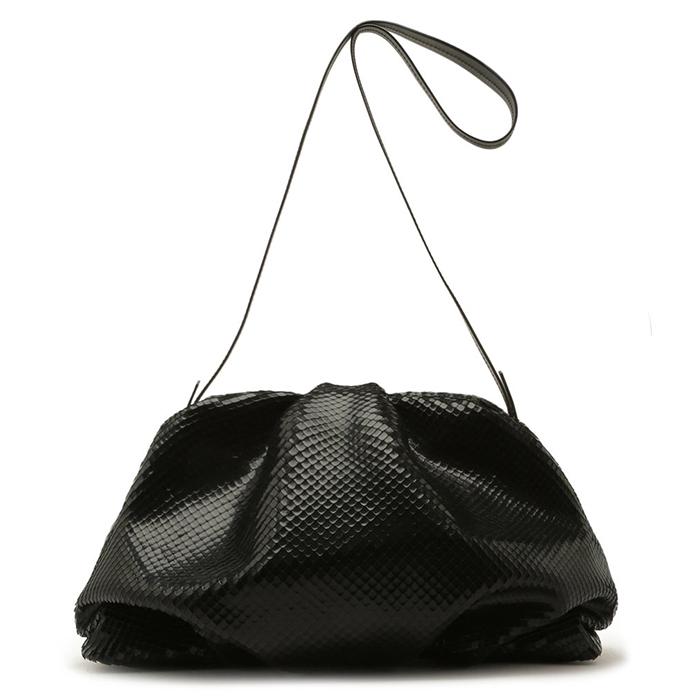 Bolsa Maxi Clutch Avril Leather Schutz - Black