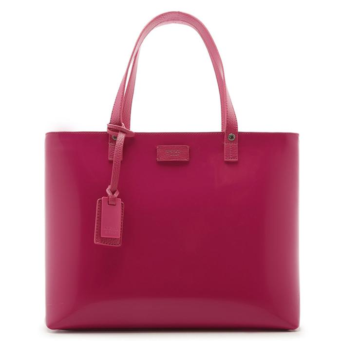 Bolsa Shopping Verniz Perla Grande Arezzo - Summer Pink