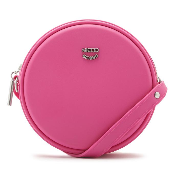 Bolsa Tiracolo Redonda Arezzo - Summer Pink