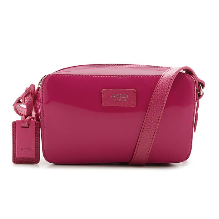 Bolsa Tiracolo Verniz Perla Pequena Arezzo - Summer Pink