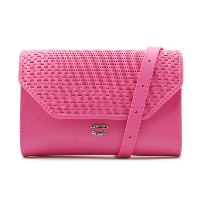 Bolsa Tiracolo Vinil Pequena Arezzo - Summer Pink