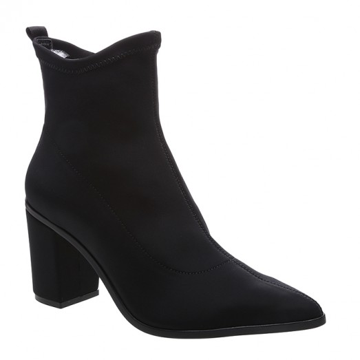 Bota Bloco Heel Neoprene Schutz - Black