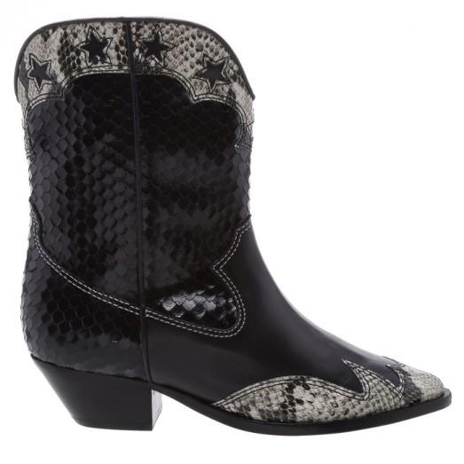 Bota Glam Western Deluxe Schutz - Black