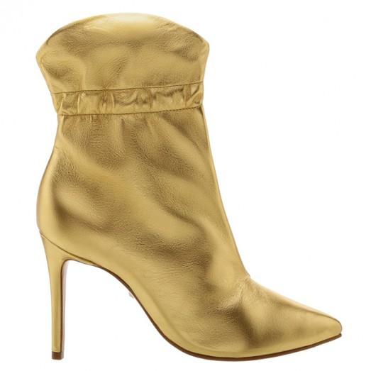 Bota Salto Fino Schutz - Golden