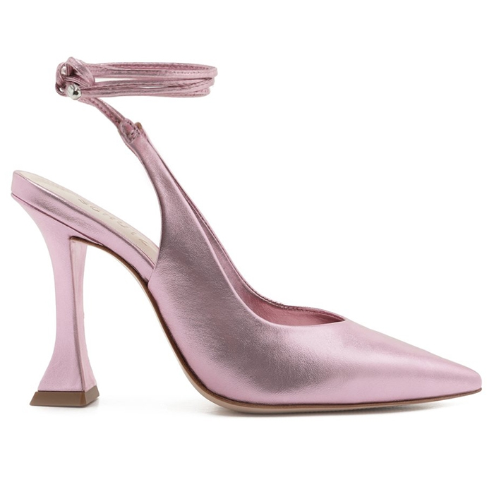 Chanel Lace-Up Schutz - Metallic Rosa