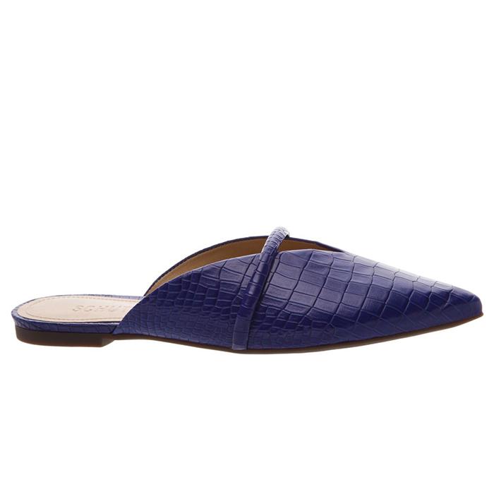 Flat Mule Croco Schutz - Blue