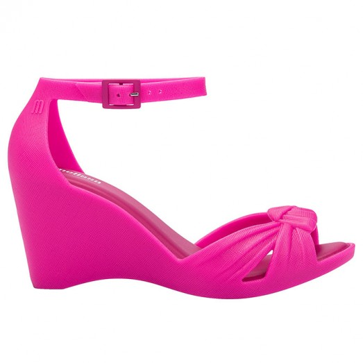 Melissa Velvet Wedge - Pink