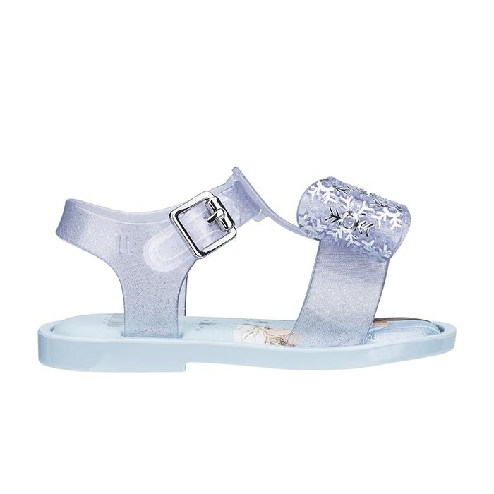 Mini Melissa Mar Sandal + Frozen - Azul/Transparente