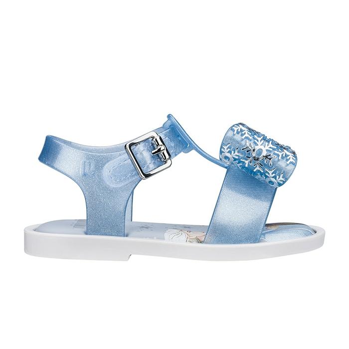 Mini Melissa Mar Sandal + Frozen - Branco/Azul