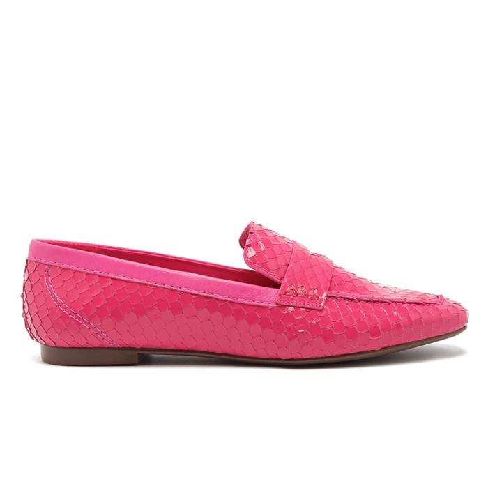 Mocassim Bright Snake Schutz - Pink