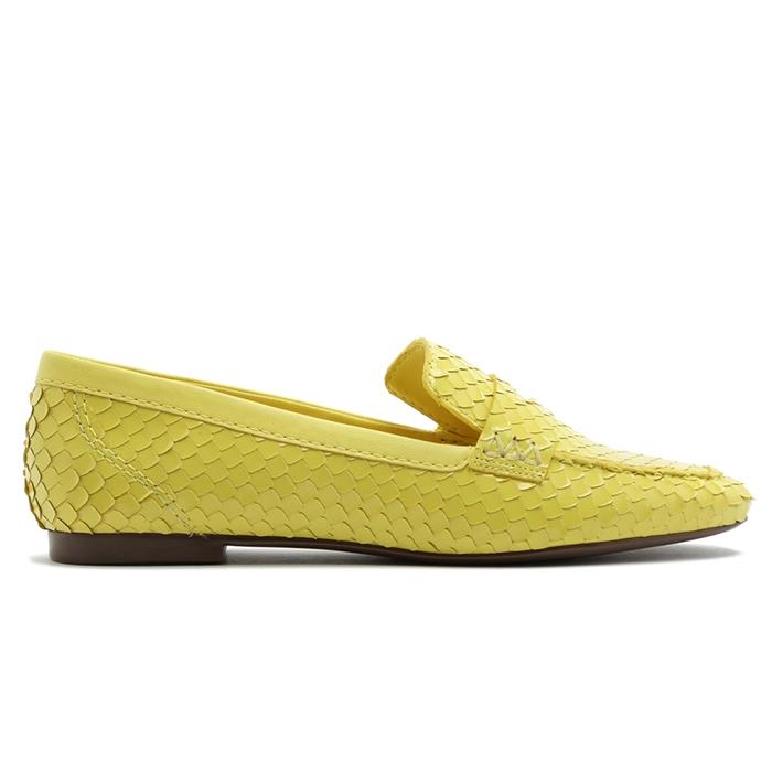 Mocassim Croco Escamas Schutz - Amarelo