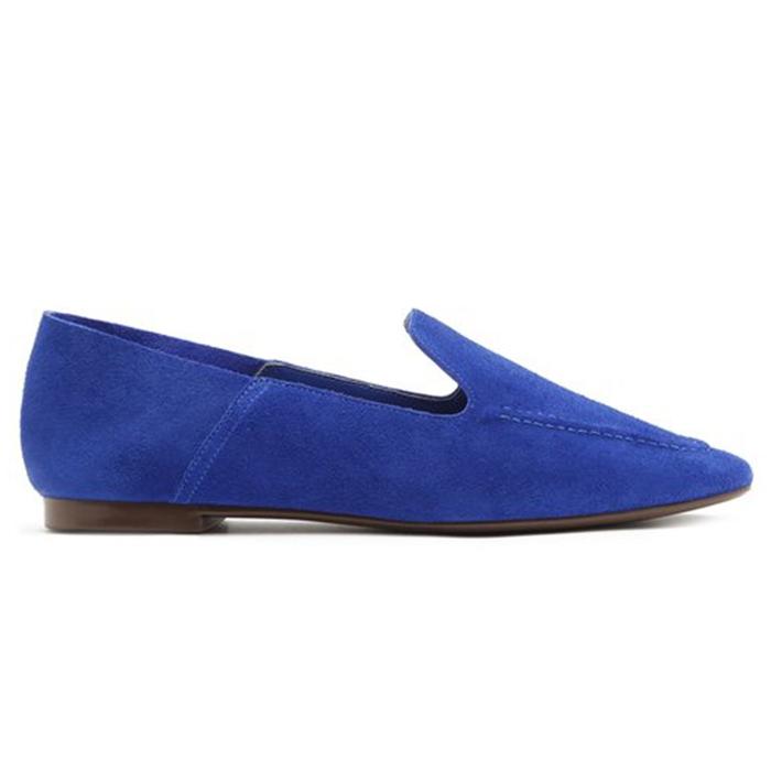 Mocassim Loafer Suede Pop Schutz - Blue
