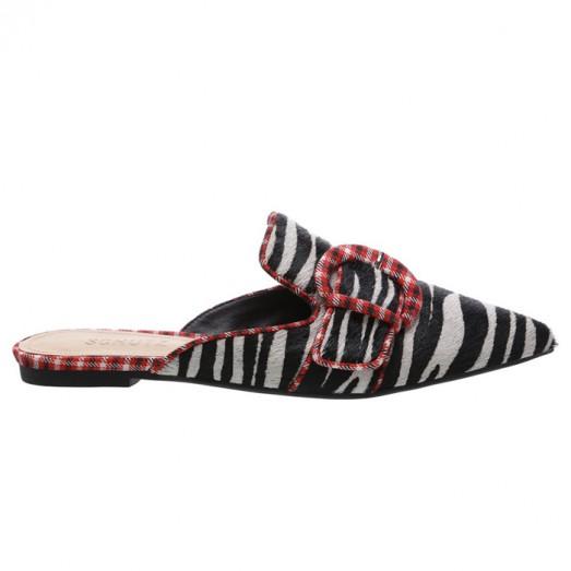 Mule Maxi Fivela Schutz - Zebra