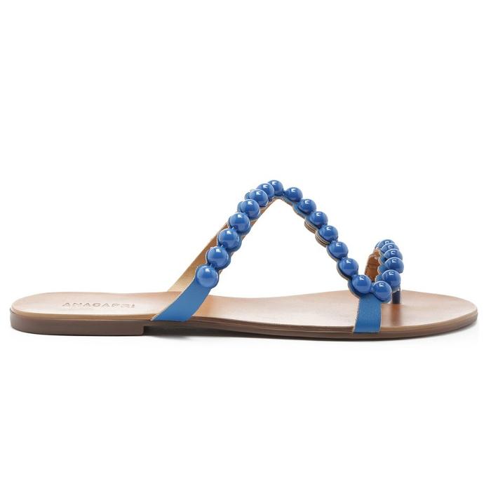 Rasteira Bolinhas Anacapri - Azul