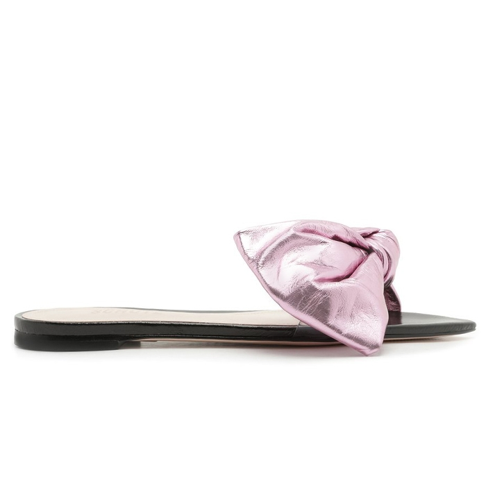 Rasteira Slide Flat Lucy Schutz - Pink